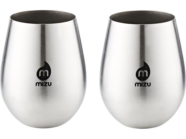 MIZU Wine Cup Pair Black Print